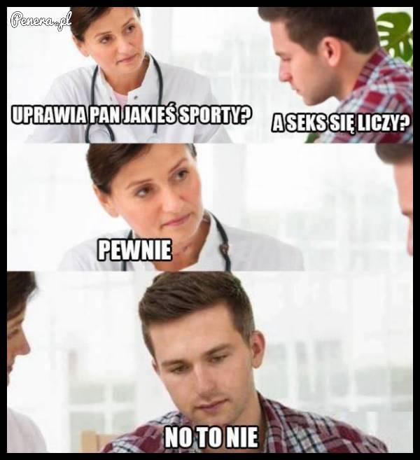 Uprawia pan jakiś sport?
