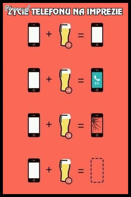 Życie telefonu na imprezie