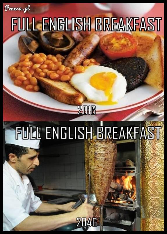Angielskie śniadanie dziś i w przyszłosci
