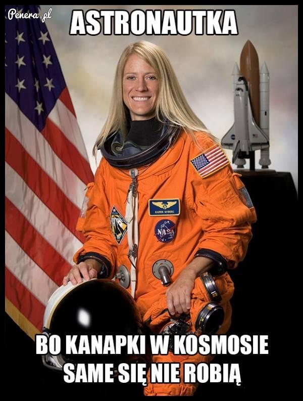 Astronautki też są potrzebne