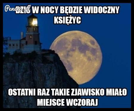 Dziś wieczorem będzie widać Księżyc