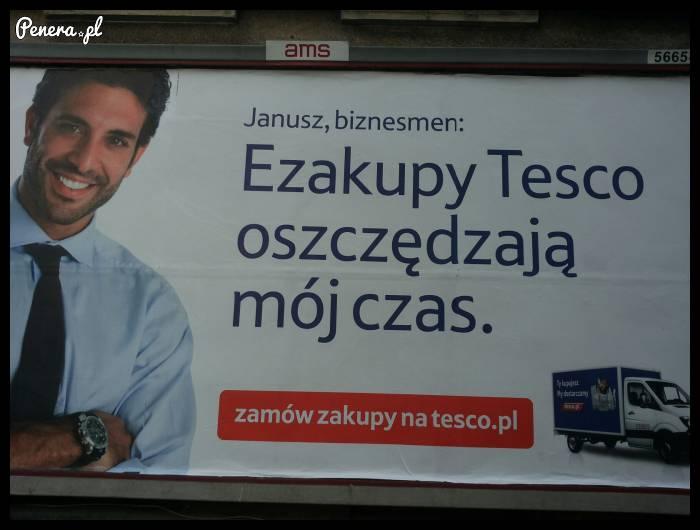 Janusz biznesmen robi ezakupy w Tesco