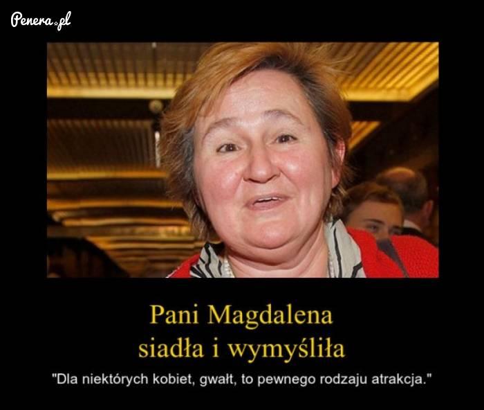 Pani Magdalena siadła i wymyśliła