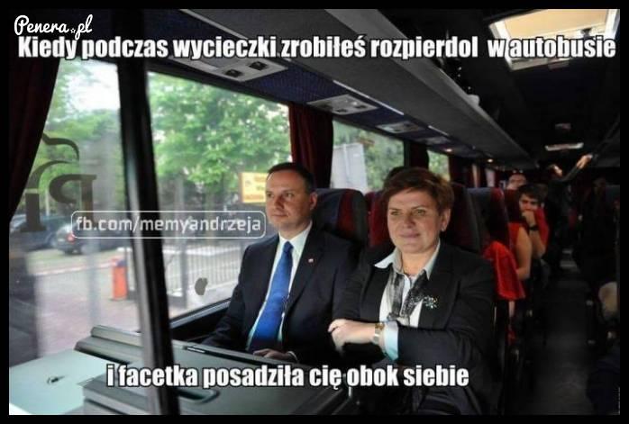 Kiedy podczas wycieczki zrobiłeś rozpi*rdol w autobusie