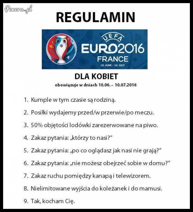 Regulamin dla kobiet w czasie EURO!