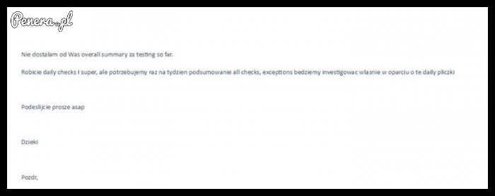 Tak wygląda mail z korpo świata
