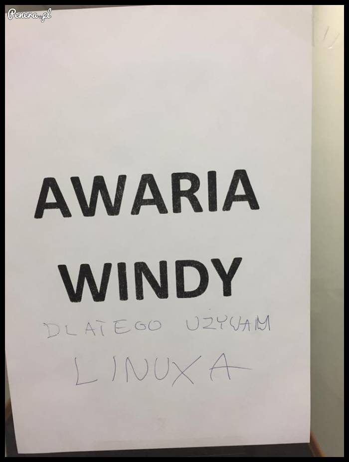 Uwaga awaria Windy