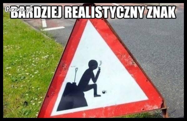 Bardziej realistyczny znak