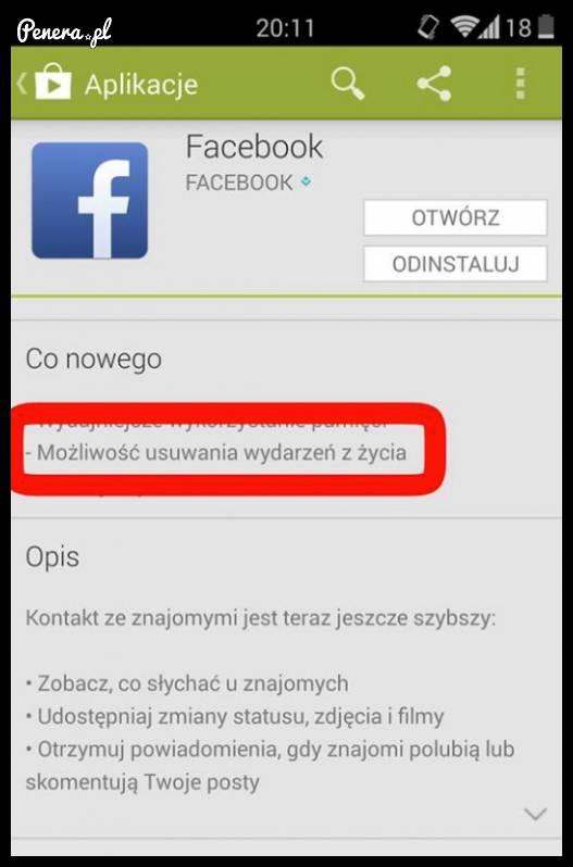 Facebook wprowadził nową możliwość w swojej aplikacji