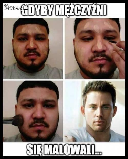 Gdyby mężczyźni się malowali ;)