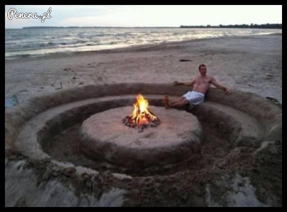 Idealny pomysł na zrobienie ogniska na plaży