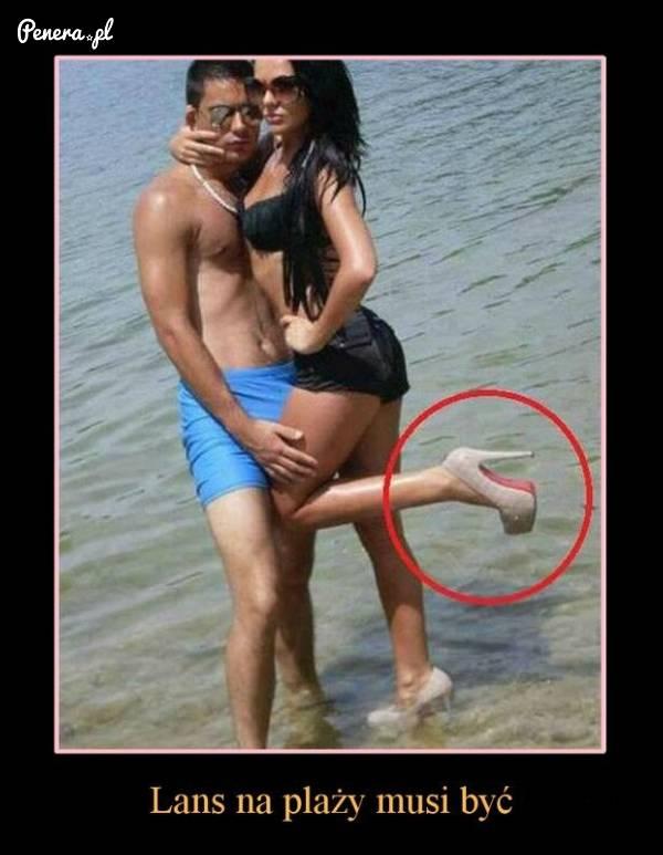 Lans na plaży musi być