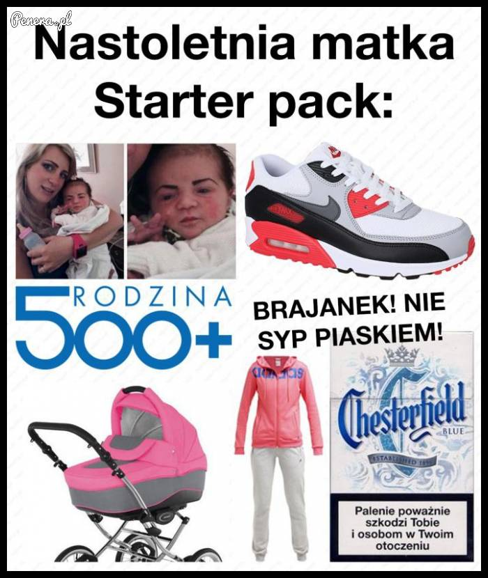 Nastoletnia matka starter pack