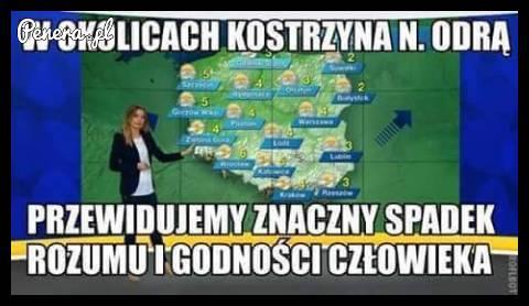 Nietypowa prognoza pogody dla Kostrzyna