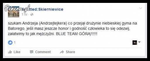 W poszukiwaniu Andrzeja z niebieskiej drużyny