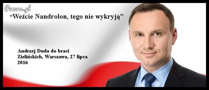 Andrzej Duda poleca