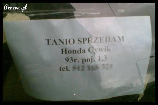 Tanio sprzedam - Honda Cywik