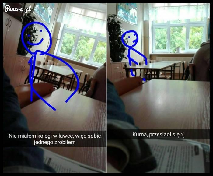 Czego to się nie robi z nudów w klasie