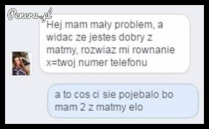Kiedy chcesz w matematyczny sposób zapytać o numer telefonu