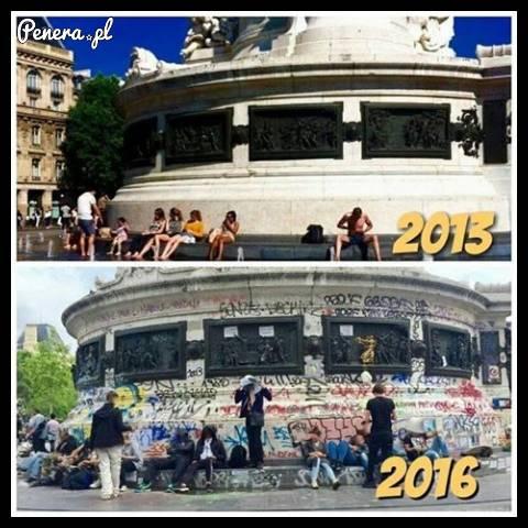Paryż kiedyś kontra Paryż dziś
