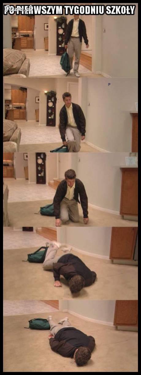 Tak się czuję po pierwszym tygodniu w szkole