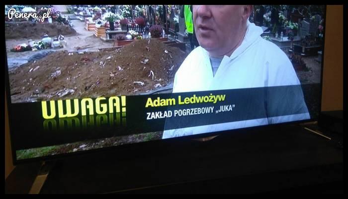 Adam Ledwożyw - właściciel zakładu pogrzebowego
