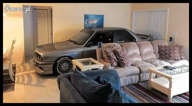 Moje BMW w domu się pasie