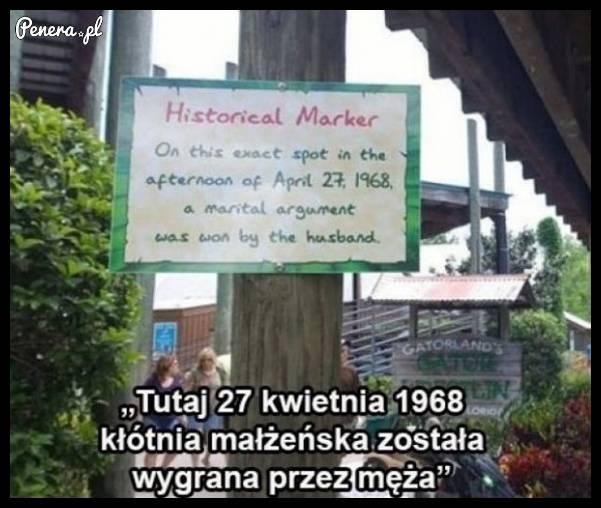 Jest jedno takie historyczne miejsce na świecie