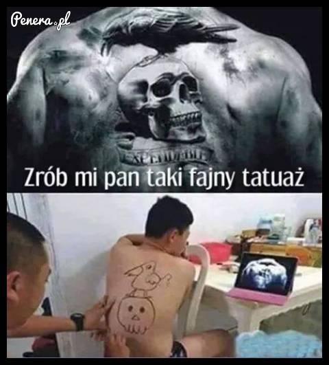 Kiedy oszczędzasz na tatuażu :D