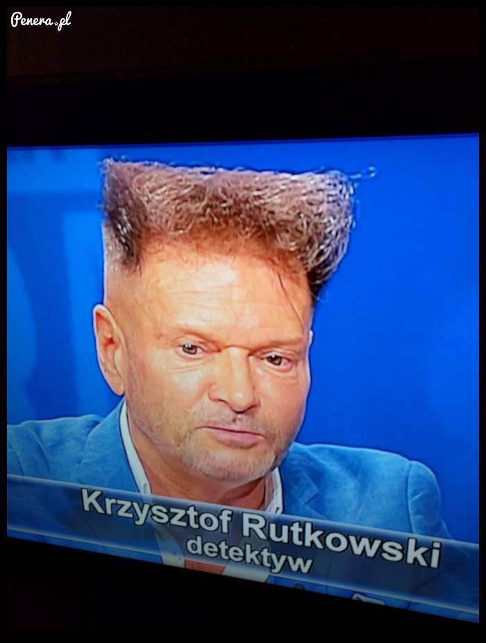 Krzysztof Rudkowski i jego ostatnia wersja fryzury