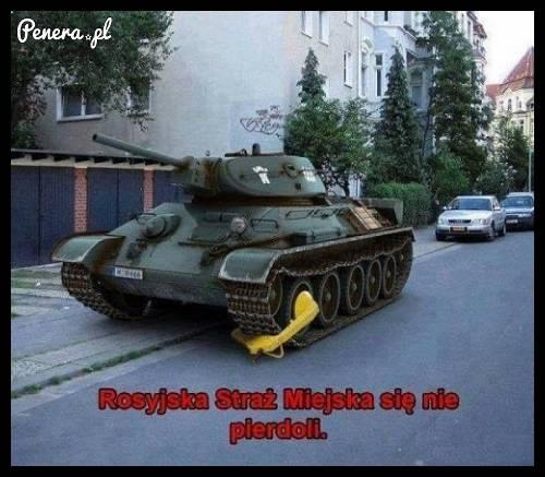 Rosyjska Straż Miejska się nie pi**doli