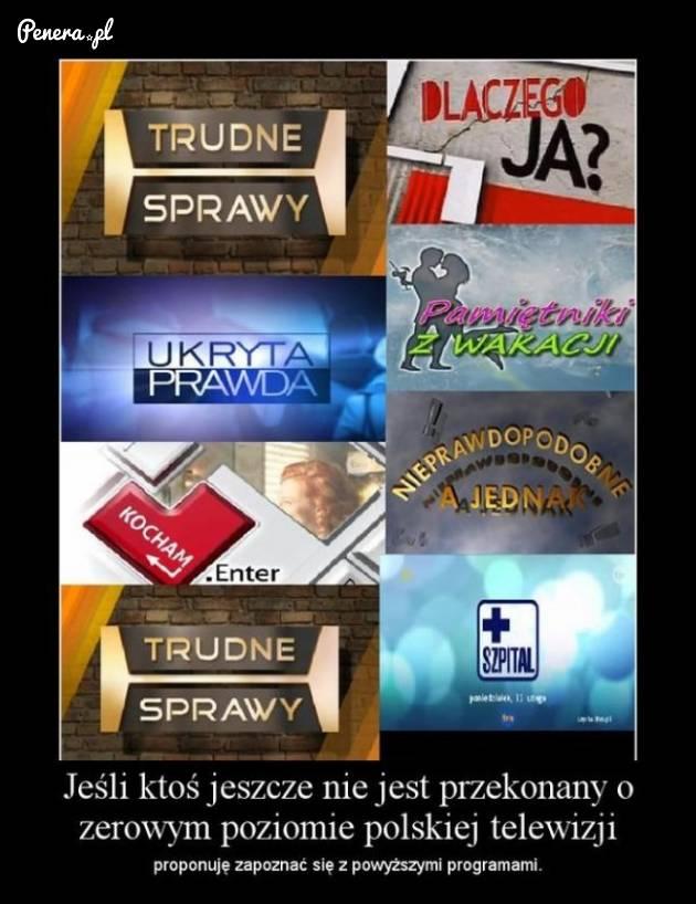 Takie rzeczy są teraz serwowane w polskiej telewizji