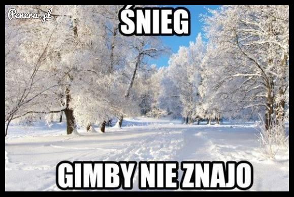 Śnieg - gimby tego nie znają :D