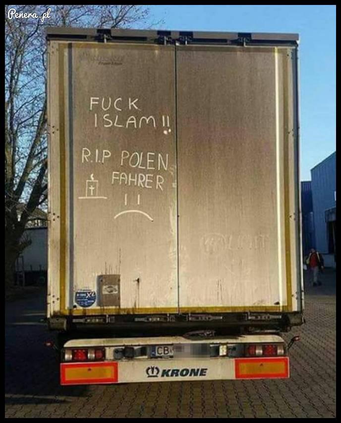 Takie coś pojawia się na ciężarówkach po zamachach w Berlinie