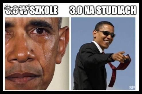 3.0 w szkole kontra 3.0 na studiach