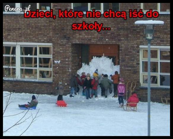 Dzieci które nie chcą iść do szkoły