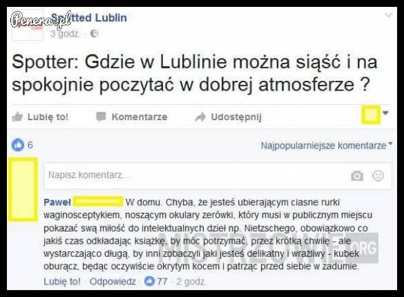 Gdzie w Lublinie można usiąść i przeczytać książkę