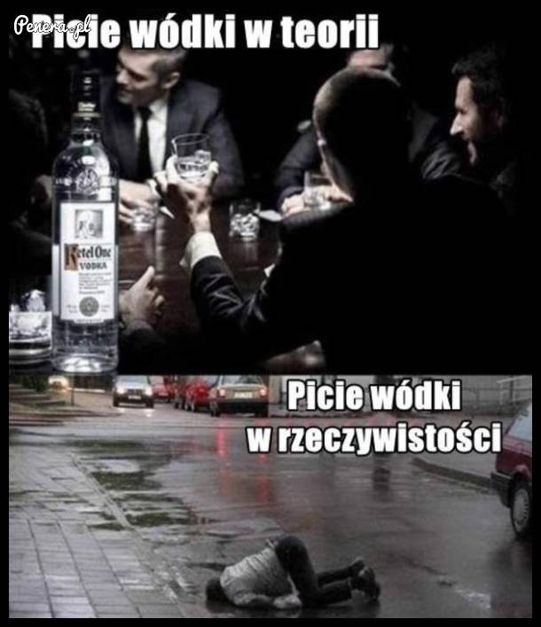Picie wódki w teorii kontra picie wódki w rzeczywistości