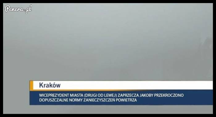 Prezydent Krakowa zaprzecza jakoby był smog