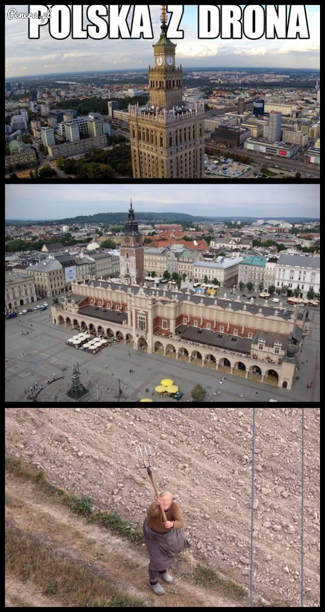 Tak wygląda Polska z Drona