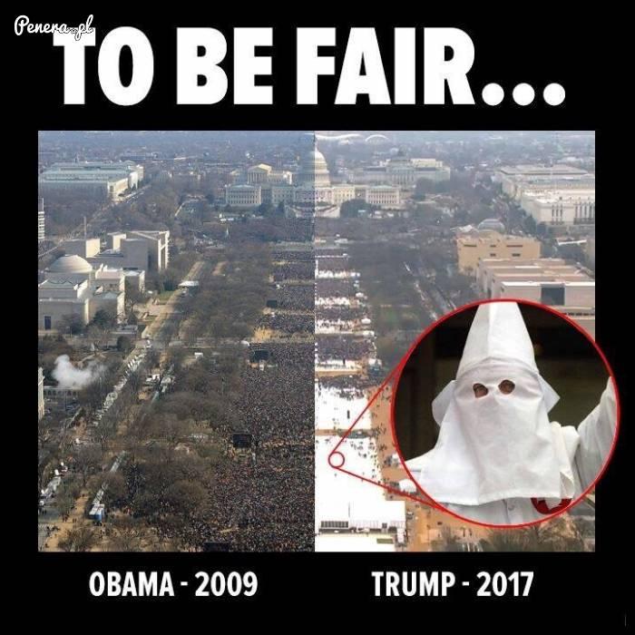 Tłumy na inauguracji Obamy kontra Trampa