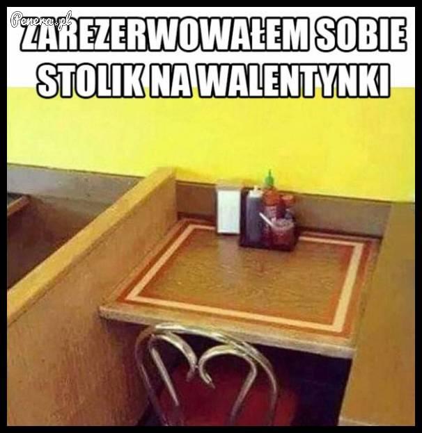 Zarezerwowałem sobie stolik na walentynki