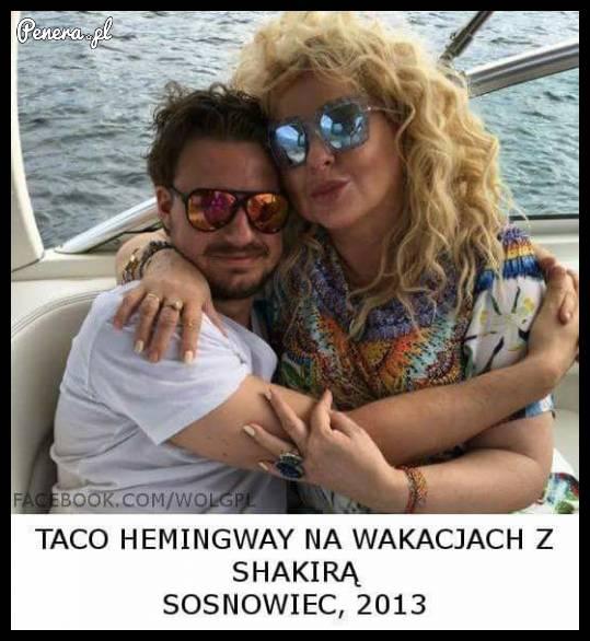 Taco Hemingway na wakacjach z Shakirą