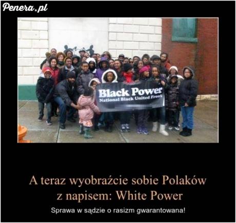 A teraz sobie wyobraźcie Polaków z takim napisem