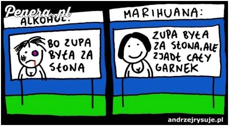 Alkohol kontra marihuana