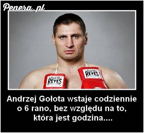 Andrzej Gołota codziennie wstaje o 6 rano