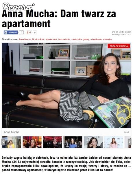 Anna mucha odda twarz za apartament