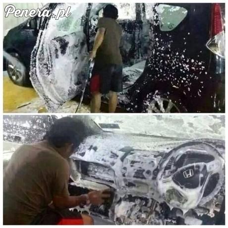 Bardzo dokładne mycie auta