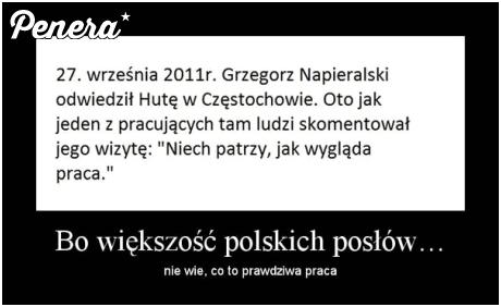 Bo polski poseł nie wie co to praca