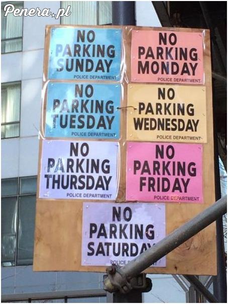 Chodzi o to żeby nie parkować